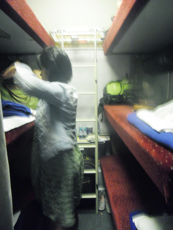 Dyah dan si kompartemen tempat tidur tingkat 3