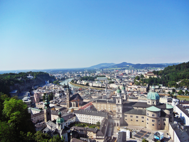 Kota Salzburg dari Hohensalzburg Castle
