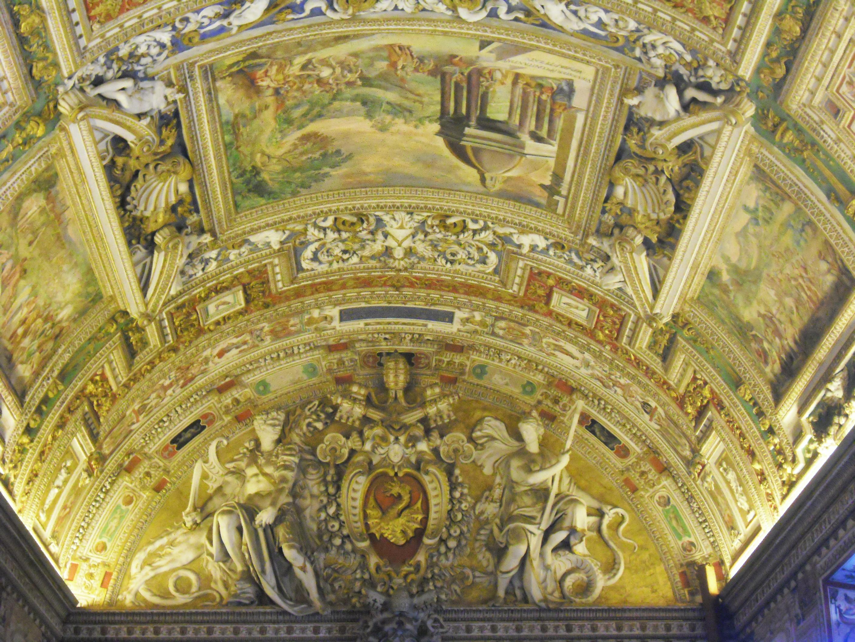 Salah satu bagian langit-langit Musei Vaticani